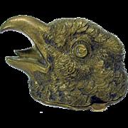 Antique Vienna bronze figural Bird head stamp box