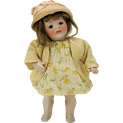 Antique barefoot Kestner all bisque doll 178 with outfits AS IS