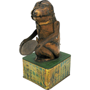 German lithographed tinplate mechanical Monkey bank