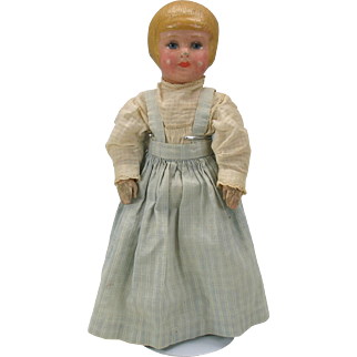 """13"""" Martha Chase doll with bobbed hair painted stockinette"""