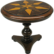 Antique miniature inlaid center table for Fashion doll