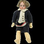 "Simon and Halbig German bisque boy doll 9"" needs restringing"