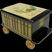 Novelty Clark Anchor Cotton figural box Pullman Parlor car