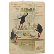 Antikamnia Skeleton advertising calendar 1900