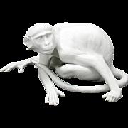 Nymphenburg large white bisque Monkey designed by Karner