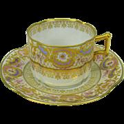 Ernst Wahliss Wien Austria fine gilded porcelain cup & saucer #1