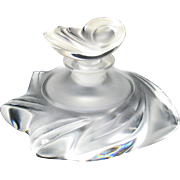 Vintage Lalique glass Samoa perfume bottle