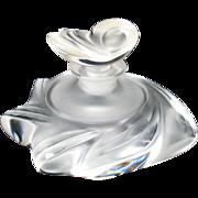 Vintage Lalique glass Samoa perfume bottle
