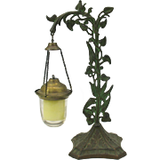 Victorian cast iron floral table top votive candle holder