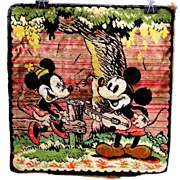 Vintage Walt Disney Mickey Mouse plush wall hanging tapestry