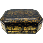 1800's Chinese lacquer writing box casket for table top good condition
