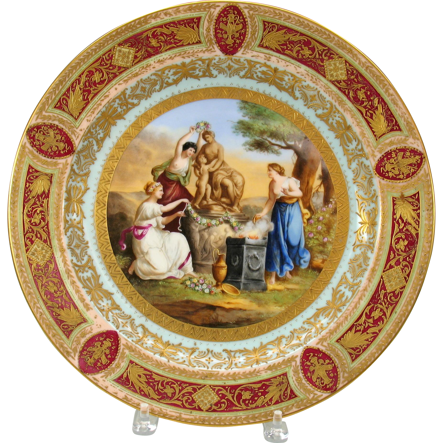 Royal Vienna Hand Painted Porcelain Charger Wall Plate 14
