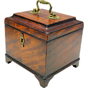 Fine Georgian lined desk tea caddy box
