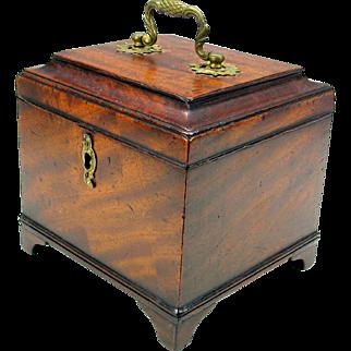 Fine Georgian lined desk tea caddy box