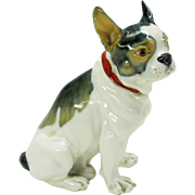 Meissen porcelain figure of a French Bulldog puppy
