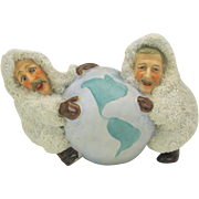 Father of Snow baby Peary & Cook German bisque snowed figure