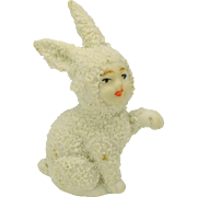 German snowed bisque snow baby Rabbit with child's face