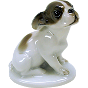 Vintage Rosenthal porcelain cabinet figure French Bulldog puppy