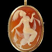 Carved shell cameo pendant brooch of Ida Rubenstein  Nijinsky ballet 10k