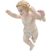 Fine Victorian porcelain hanging Cherub figure