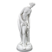 Fine large Victorian parian figure Venus at bath 18""