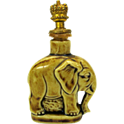 Vintage German bisque Elephant crown top perfume bottle