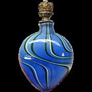 Vintage Venetian or Italian glass crown top perfume bottle