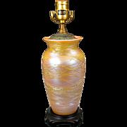 Vintage Durand art glass vase lamp base