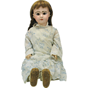 "Closed mouth French bisque Tete Jumeau doll 24"" with 4 outfits AS IS"