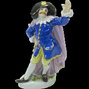 Antique Meissen porcelain figure of a Cavalier or Town crier
