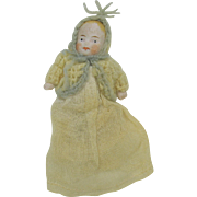 All original all bisque baby doll for a carriage 2 1/4""