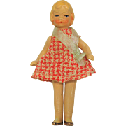 1920's All original painted all bisque doll