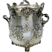 1851 Elkington silvered bronze wine or champagne cooler