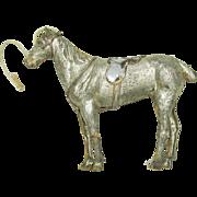 Antique Dresden paper Christmas ornament-Horse smaller size