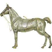 Large antique Dresden paper Christmas ornament-Dressage Horse