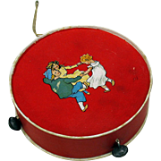 Antique German candy container-tambourine with bells