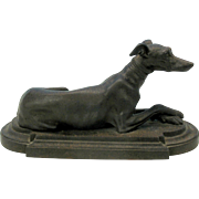 Early Victorian Iron Greyhound dog statue figure