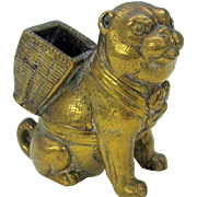 Victorian bronze Pug dog match holder striker