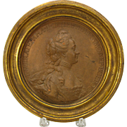 Jean-Baptiste Nini terracotta medallion Catherine the Great Russia (Italian 1717-1786)