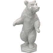 Vintage Rosenthal porcelain standing bear figure Blanc de chine figurine