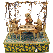 Amazing antique Cat Tea party musical moving automaton-they meow!!