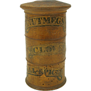 Antique turned boxwood Spice Tower