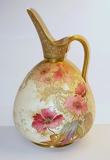 Huge Doulton Burslem artist signed Exhibition sized pitcher or jug