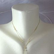 18K Solid Gold~ One-of-a-Kind Prasiolite & Diamond necklace