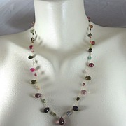 "14K Solid Gold~ AAA Tourmaline ""Persephone"" Necklace 2010"