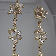 Newest Collection~ 14K Solid Matte Gold  Herkimer Diamond earrings