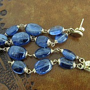 "14K/18K Solid Gold~ New Kyanite ""cascade"" Post Earrings"