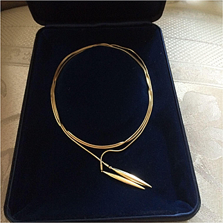 """Authentic Tiffany & Co. Feather Lariat 50"""""""