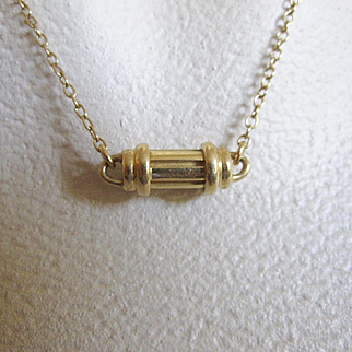 Tiffany & Co. ~ 18K Gold Scroll Necklace~ Guaranteed Authentic