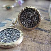 Vintage Diamond Mosaic Ring and Pendant